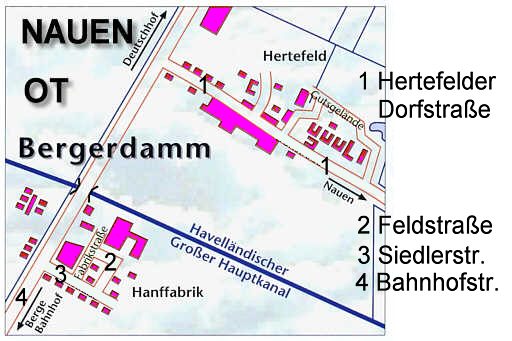 Der Ortsteil Bergerdamm im Jahre 2008. / the districts of the city in the year 2008.