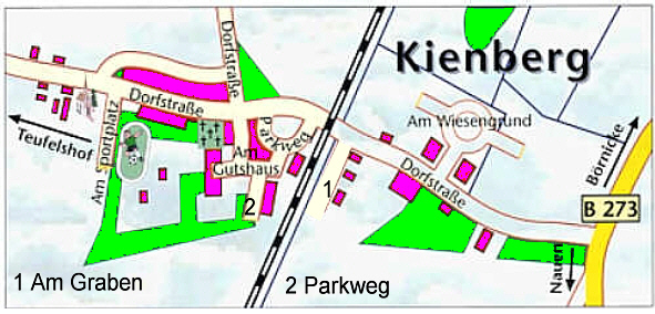 Kienberg im Jahre 2008. / the districts of the city in the year 2008.