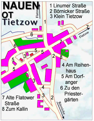 Der Ortsteil Tietzow im Jahr 2008. / the districts of the city in the year 2008.